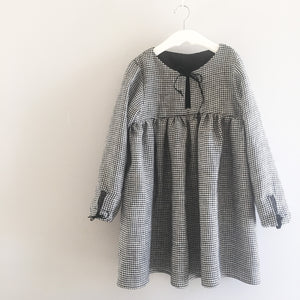 Long Sleeve Gingham Dress