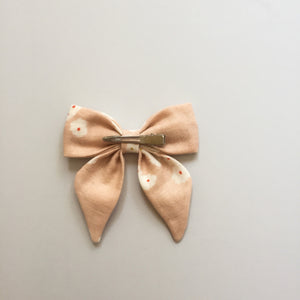 Blush Floral Hair Bow