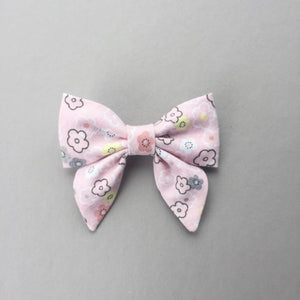 Pink Floral Bow