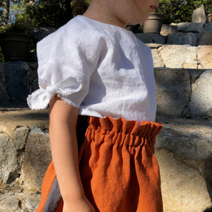 Frayed Hem Bow Sleeves Top