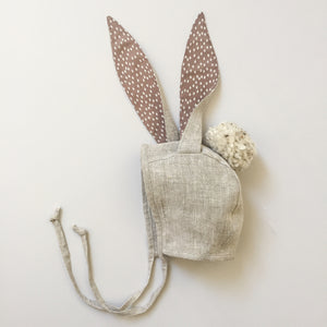 Bunny Ears Bonnet - Natural/Sand Color