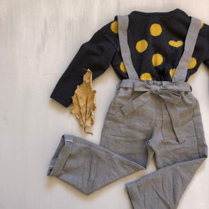 Kids Linen Suspender Pants