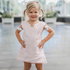 High Low Pale Pink Linen Dress