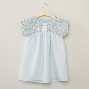 Pale Blue Linen Dress