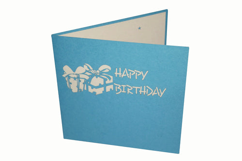PaperkraftCards Birthday Present 3D Greeting Card (Red)