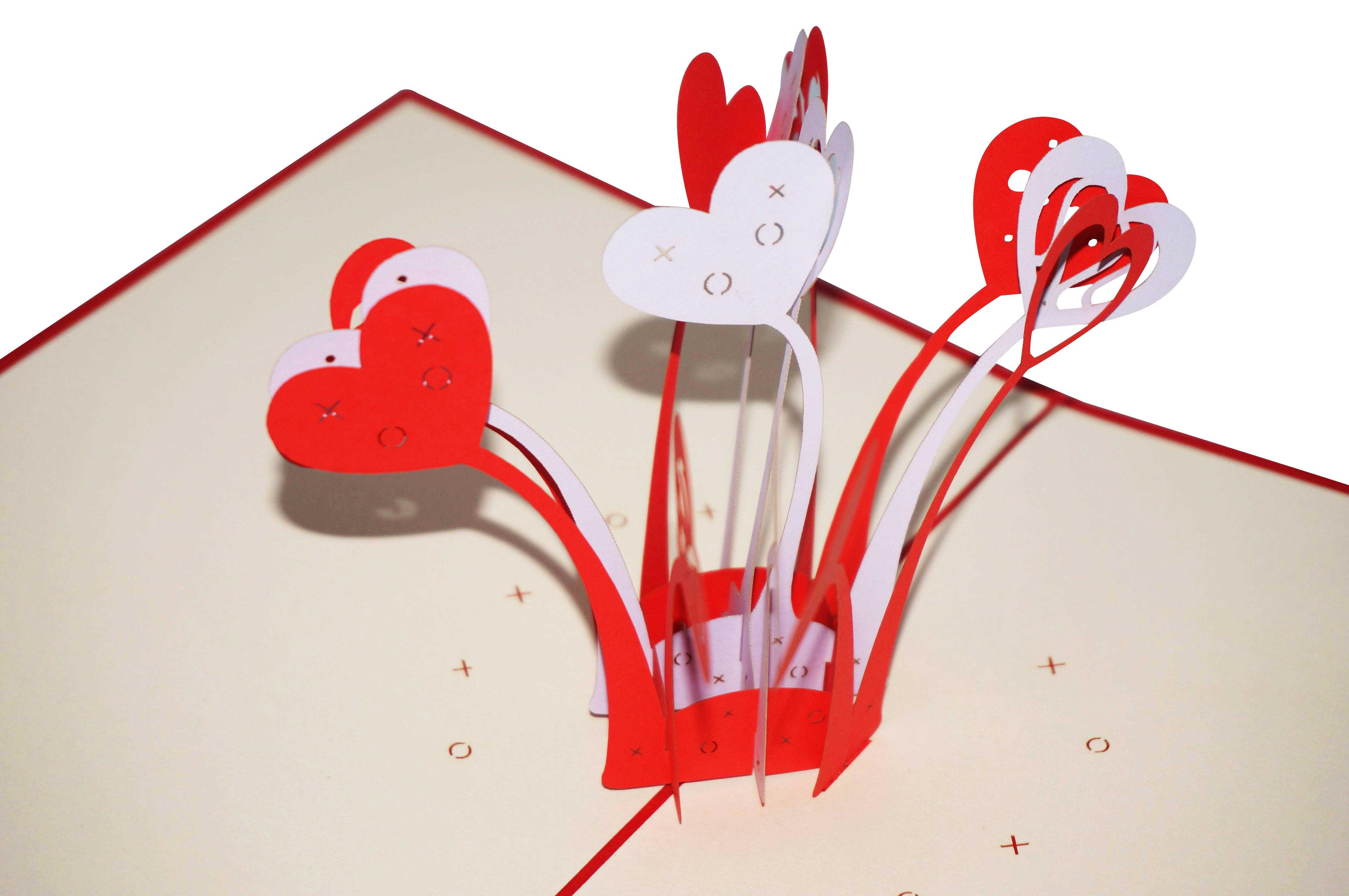 PaperkraftCards Love Explosion 3D Greeting Card (Red)