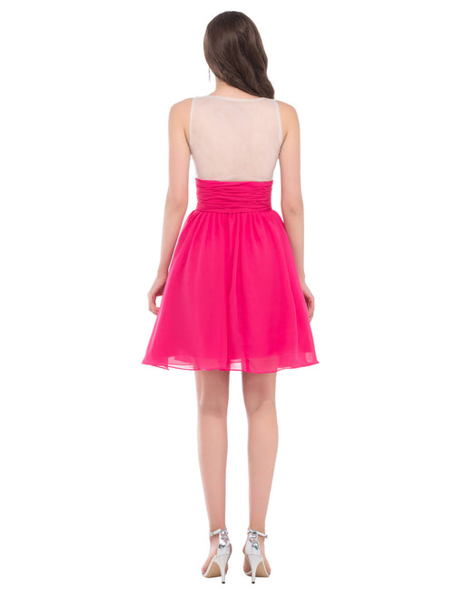Grace Karin Red Knee Length Prom Cocktail Dress