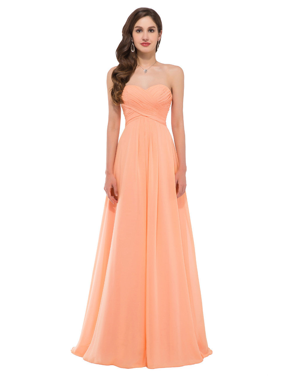 Grace Karin Strapless Sweetheart Long Evening Dress
