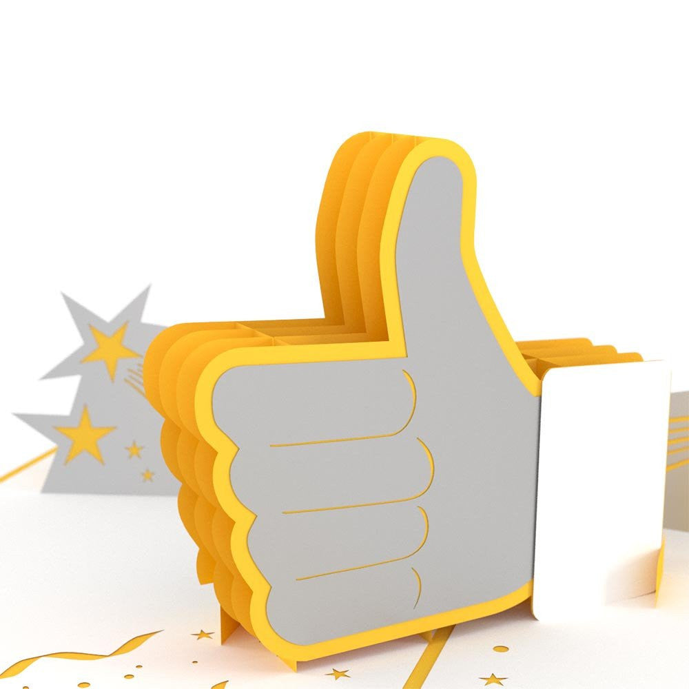 Thumbs Up 3D Pop Up Greeting card