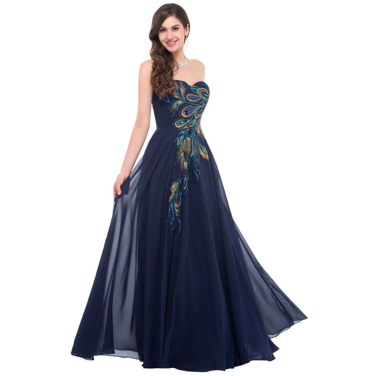 Grace Karin Strapless Formal Long Evening Gown - Indifashion