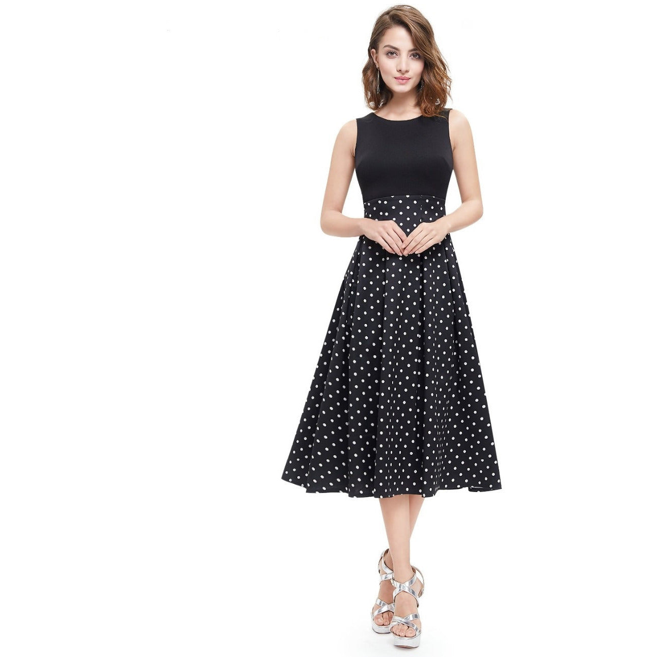 Women's A-Line Sleeveless Party Dress - Indifashion.org