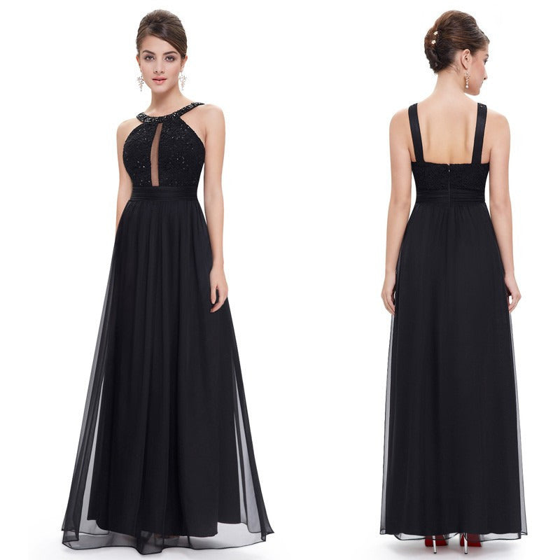 Women's Long Evening Dress for Wedding Event - Indifashion.org