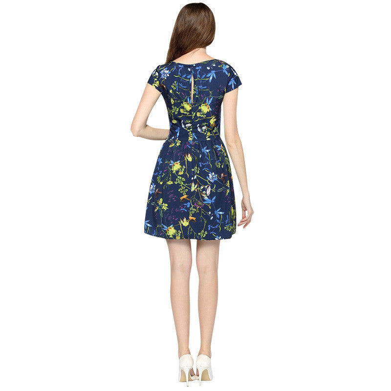 Women's Elegant Summer Floral Casual Dress - Indifashion.org