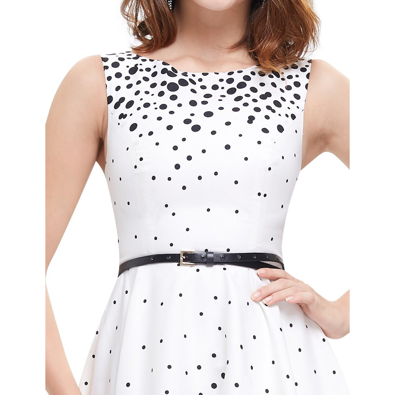 Women's Polka Dot Party Dress - Indifashion.org