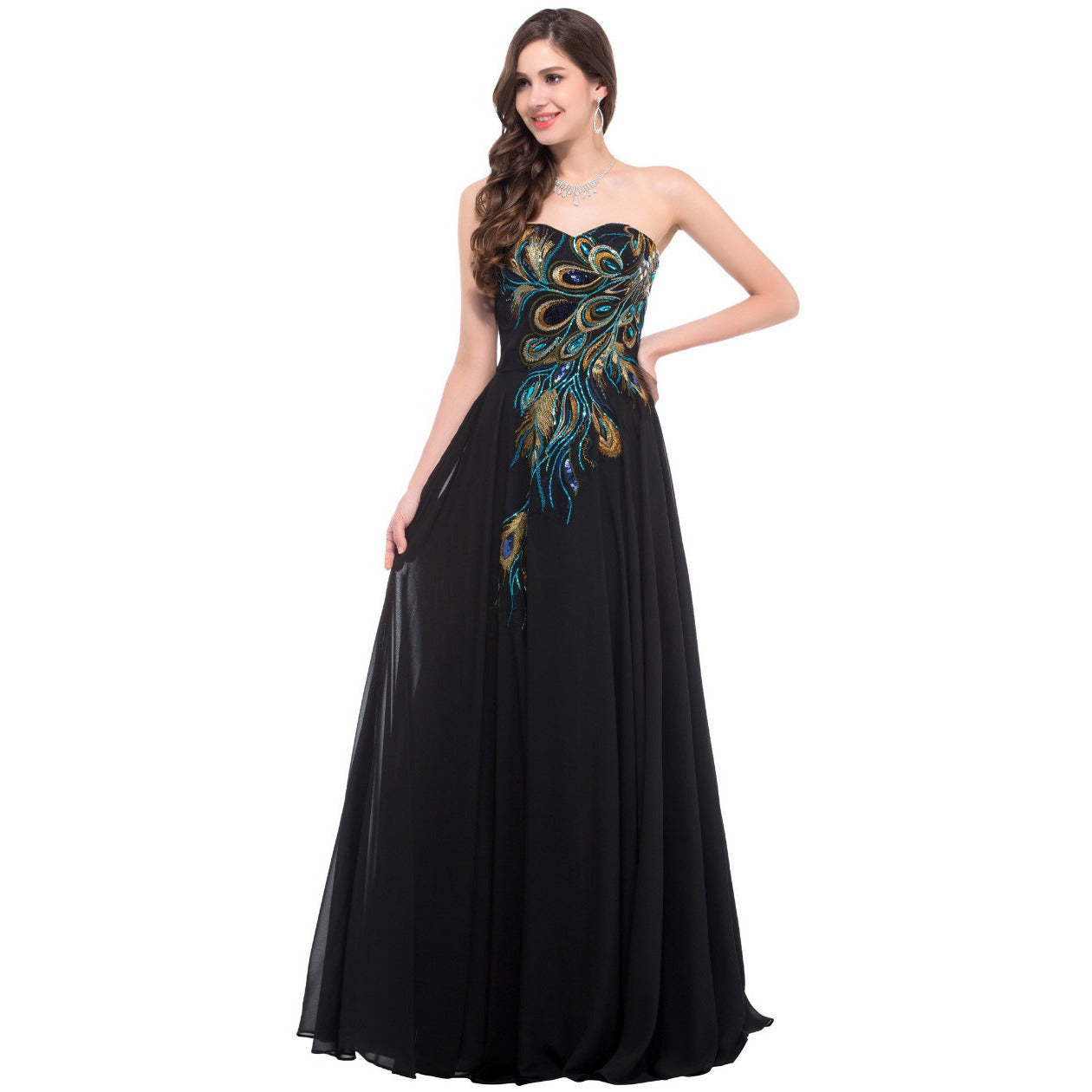 Grace Karin Strapless Formal Long Evening Gown - Indifashion.org