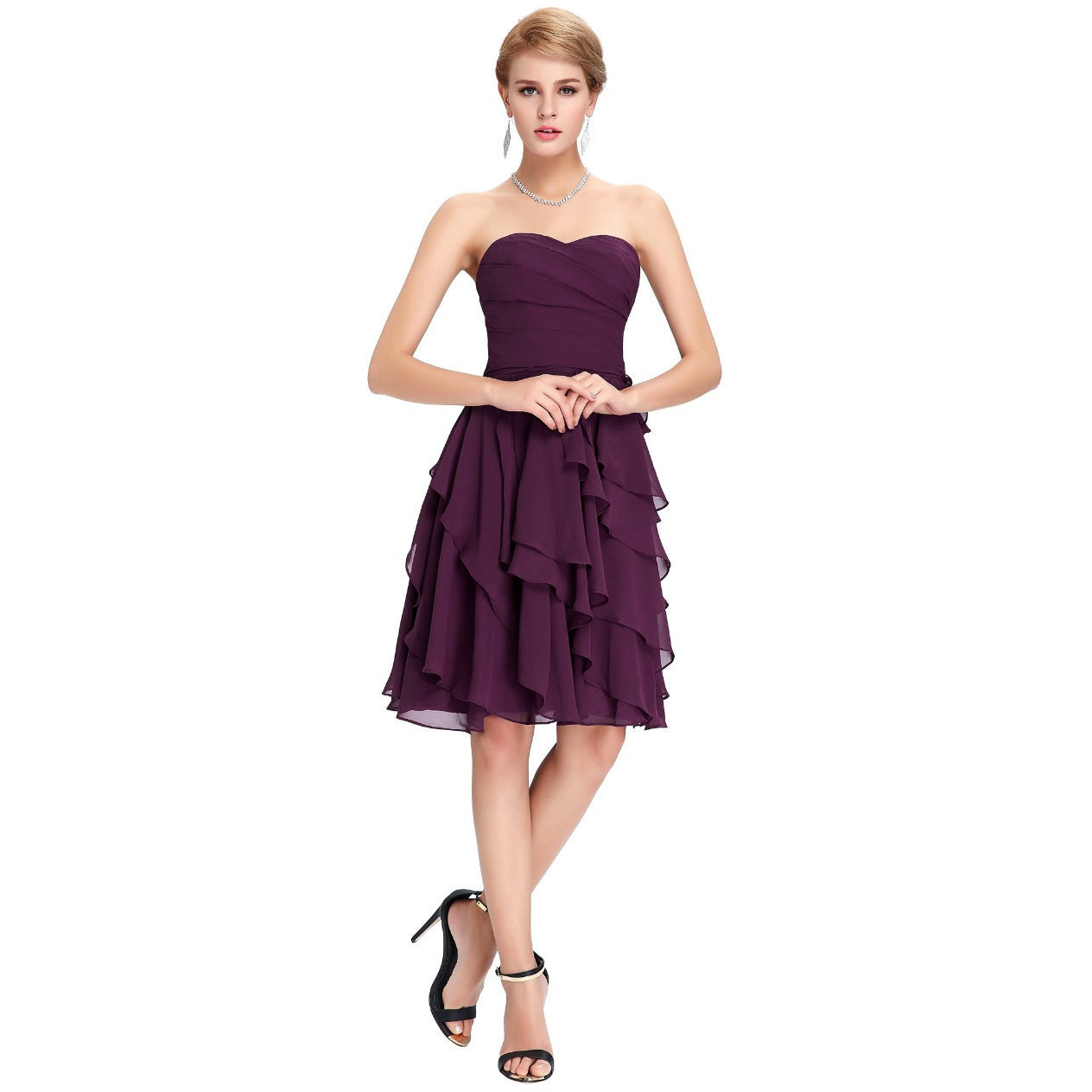 Grace Karin Chiffon Short Prom Dress - Indifashion