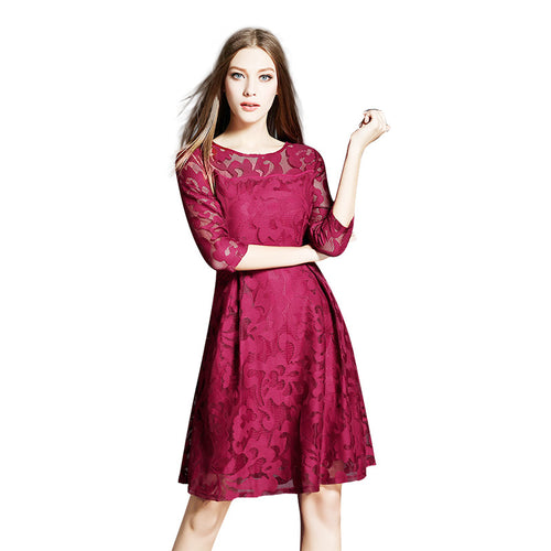 Women's Lace Embroidered Casual Dress