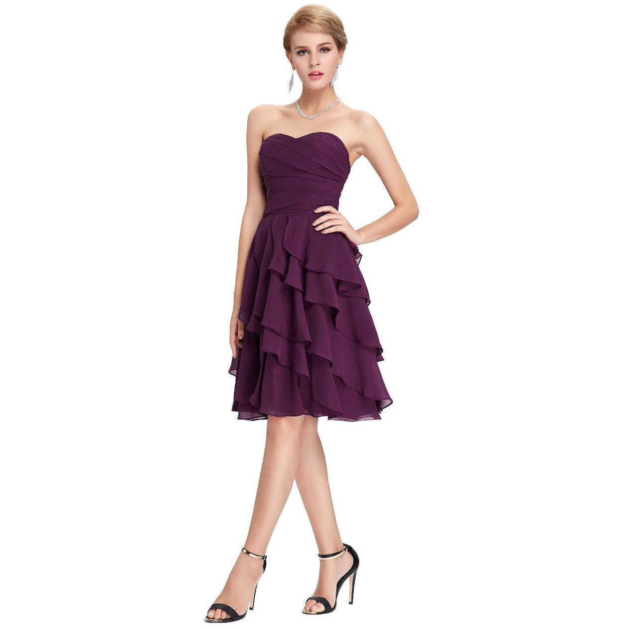 Grace Karin Chiffon Short Prom Dress