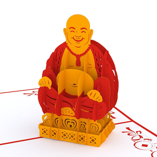 PaperkraftCards Laughing Buddha 3D Greeting Card