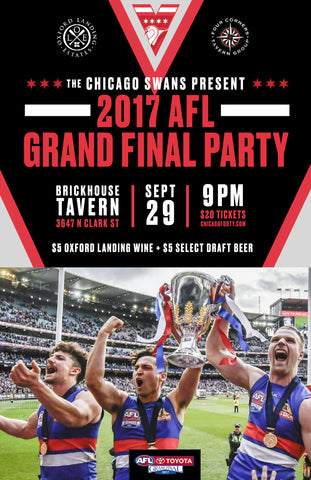 2017 AFL Grand Final Party in Chicago - Tickets at The Door