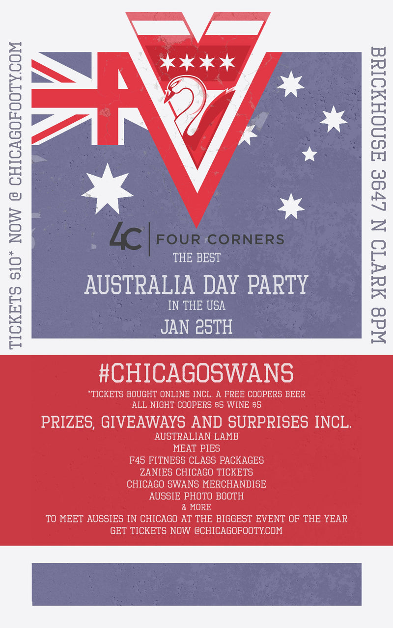 Australia Day in Chicago at the Brickhouse Tavern. Tickets available at the door