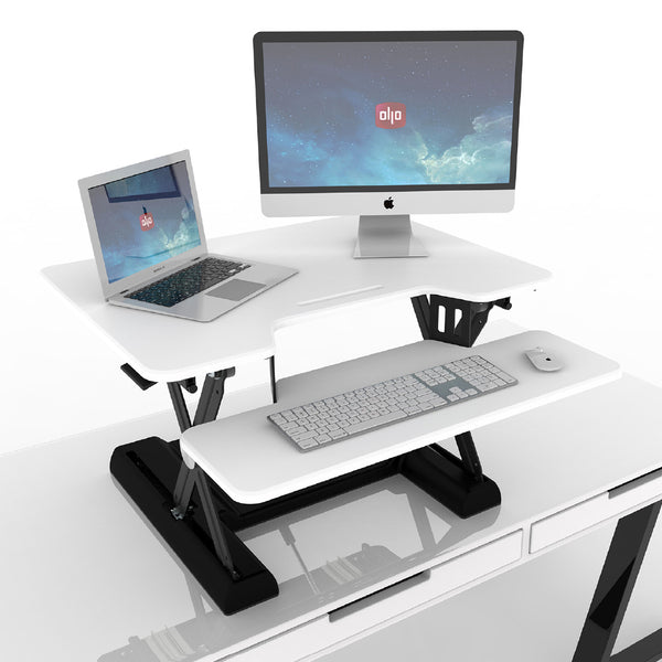 OlloDesk® Sit Stand White