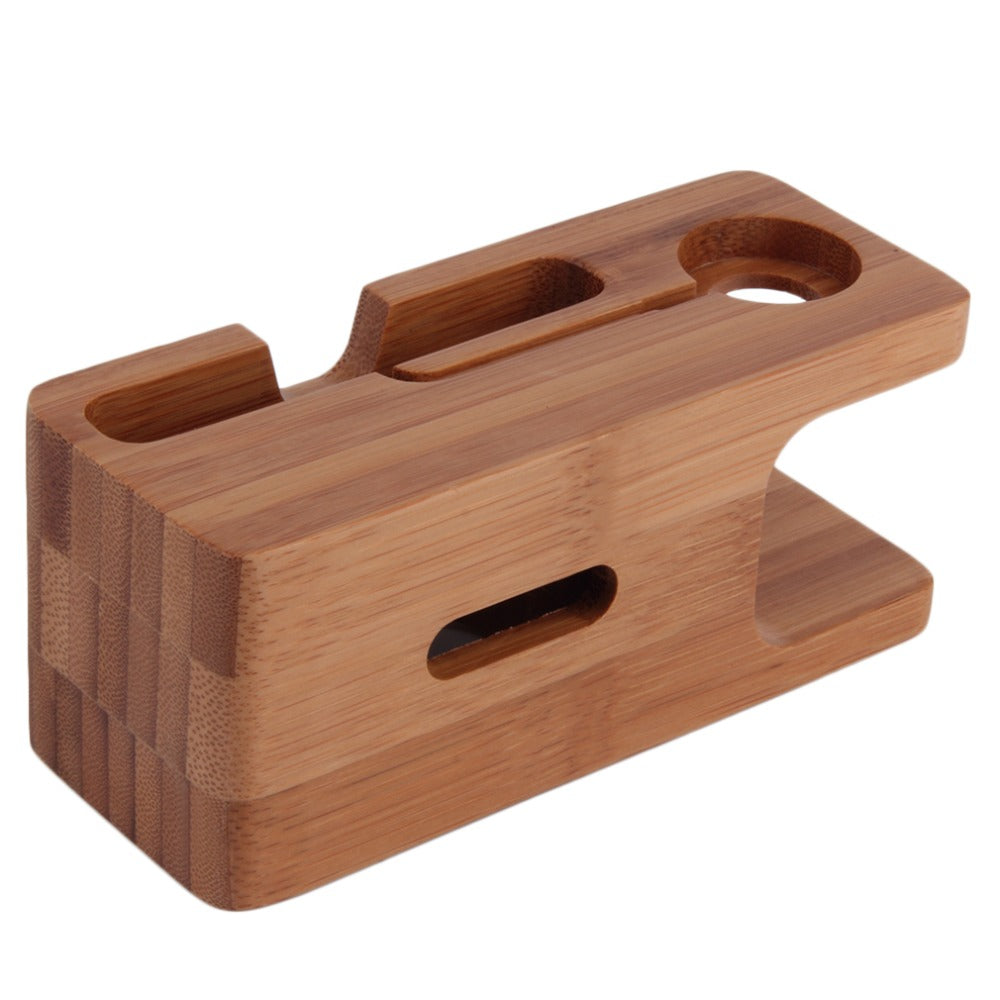 Oxa Bamboo Charging Station for Apple Watch and iPhone