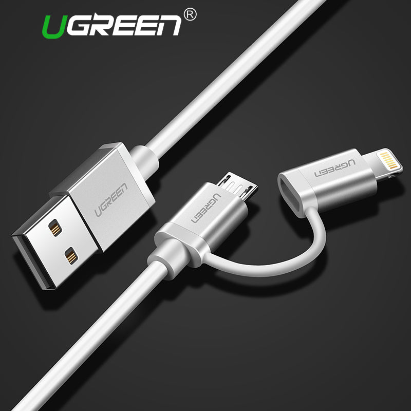 Ugreen 2 in 1 Lightning to Micro USB Cable