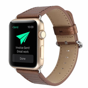 Carbon Fibre Leather Strap for Apple Watch 38mm & 42mm