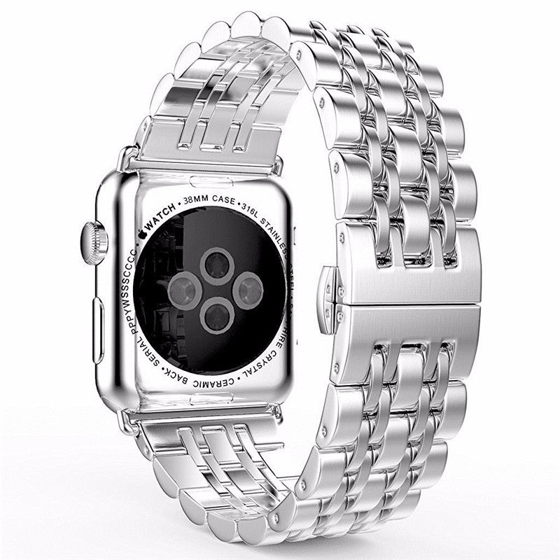 Lnop Stainless Steel Wrist Strap for Apple Watch 38mm & 42mm