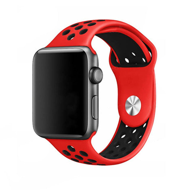 Silicone Sport Watchband For Apple Watch 38mm & 42mm