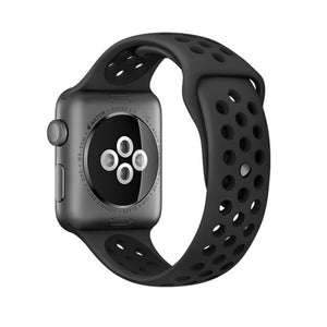 Shzons Silicone Sport Watchband For Apple Watch 38mm & 42mm
