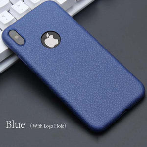 Litchi Textured Phone Case for iPhone X
