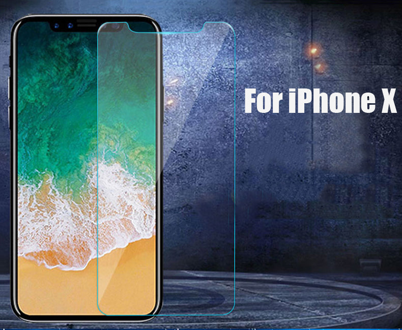Tomkas Tempered Glass For iPhone X