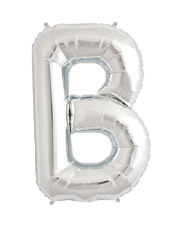 86cm Silver Letter Balloons