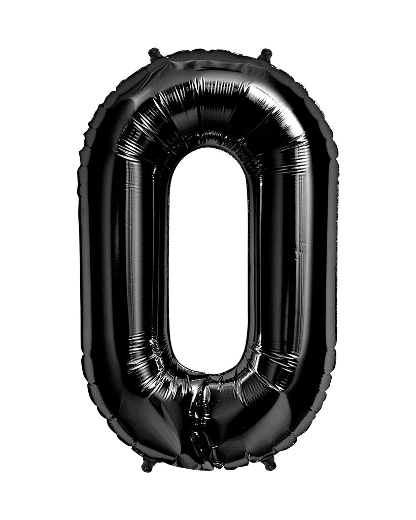 86cm Black Number Balloons Filled with Helium