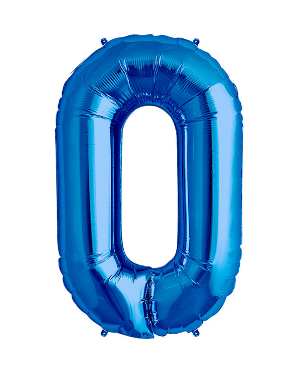 86cm Blue Number Balloons with Helium