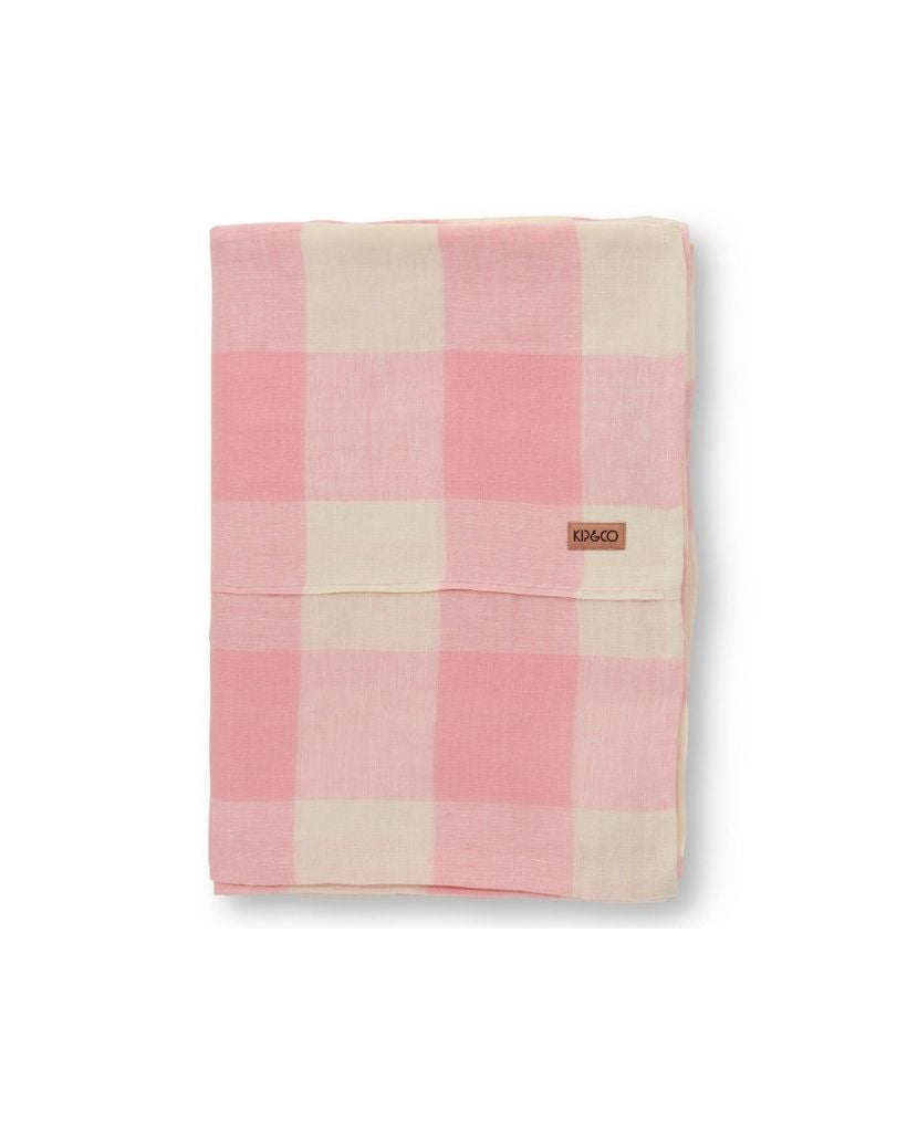 Strawberries and Cream Linen Table Cloth (Flat Sheet)