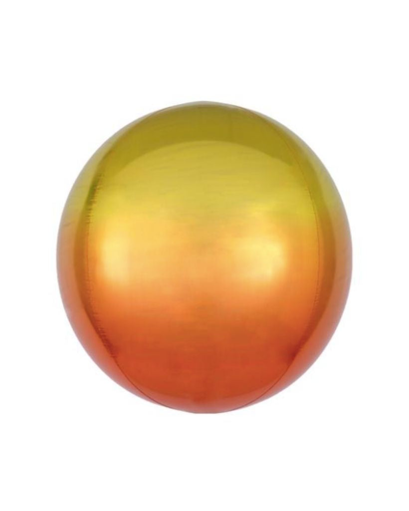 Yellow and Orange Ombre Orb Balloon