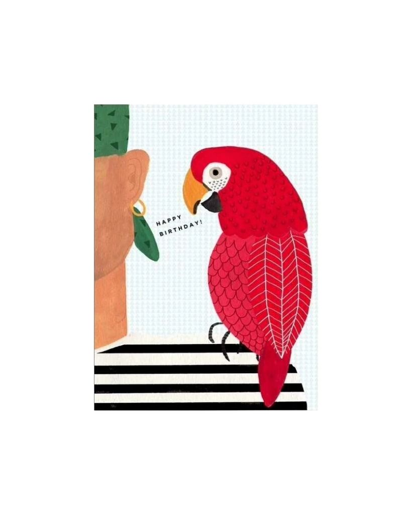 Happy Parrot Card