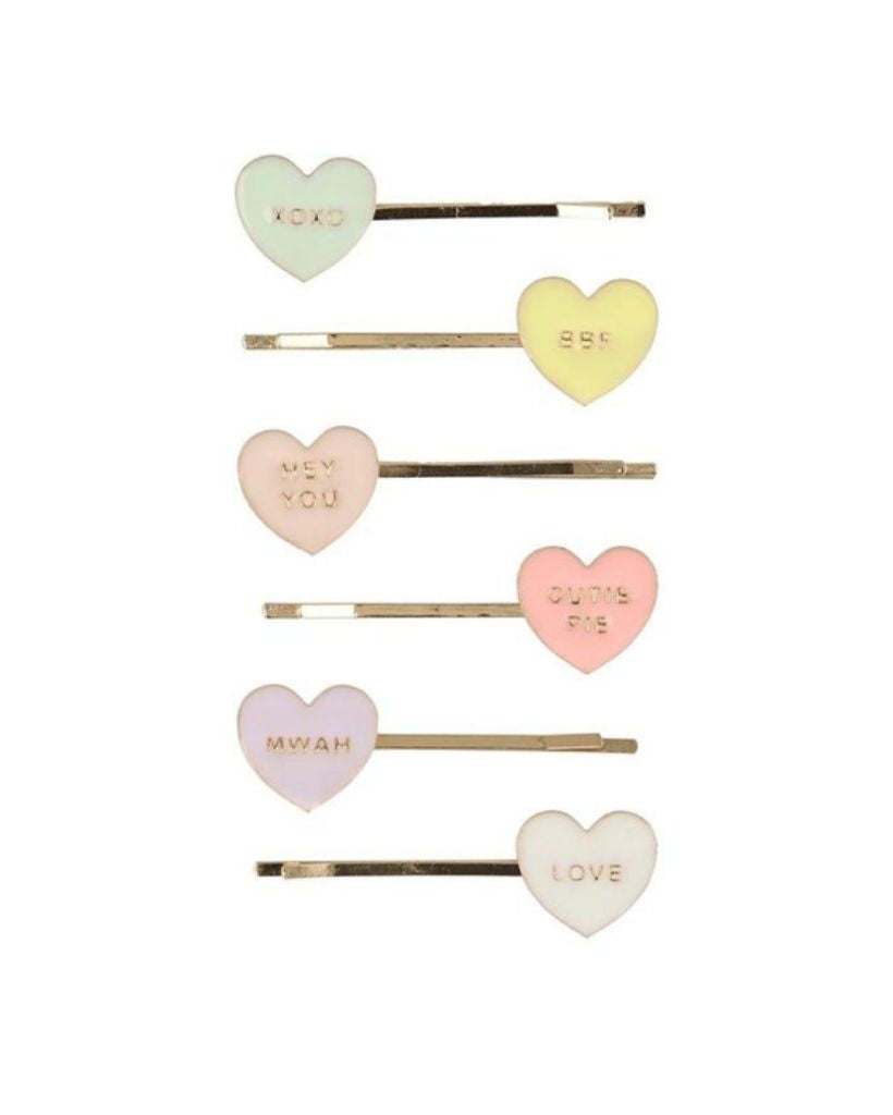 Love Heart Enamel Hair Slide