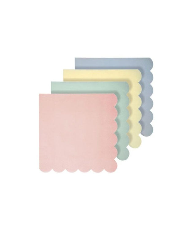 Pastel Scallop Edge Small Napkins