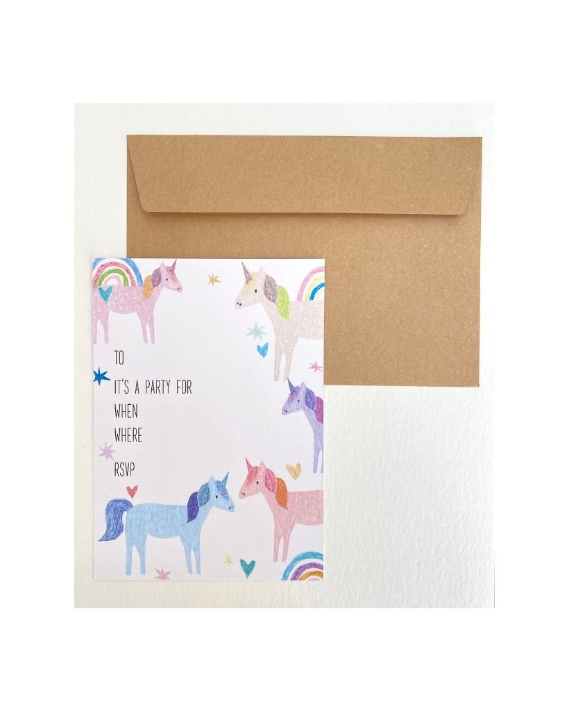 Unicorn Party Invites