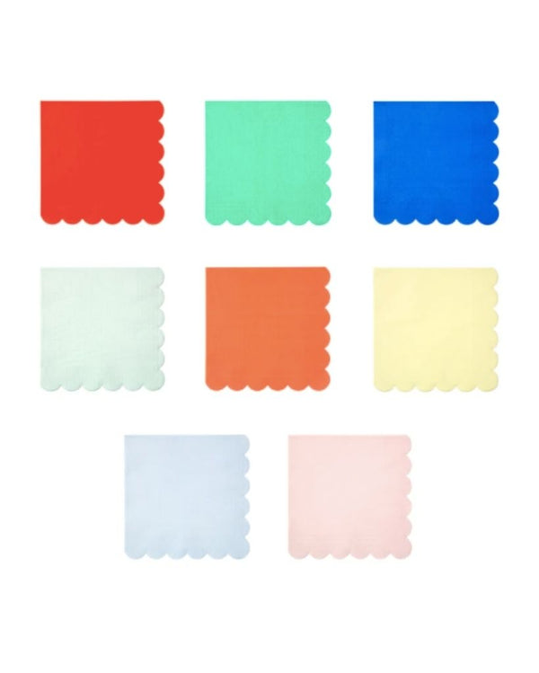 Rainbow Scallop Edge Large Napkins