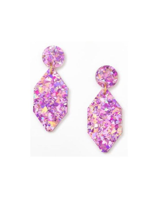 Diamond Mauve Earrings