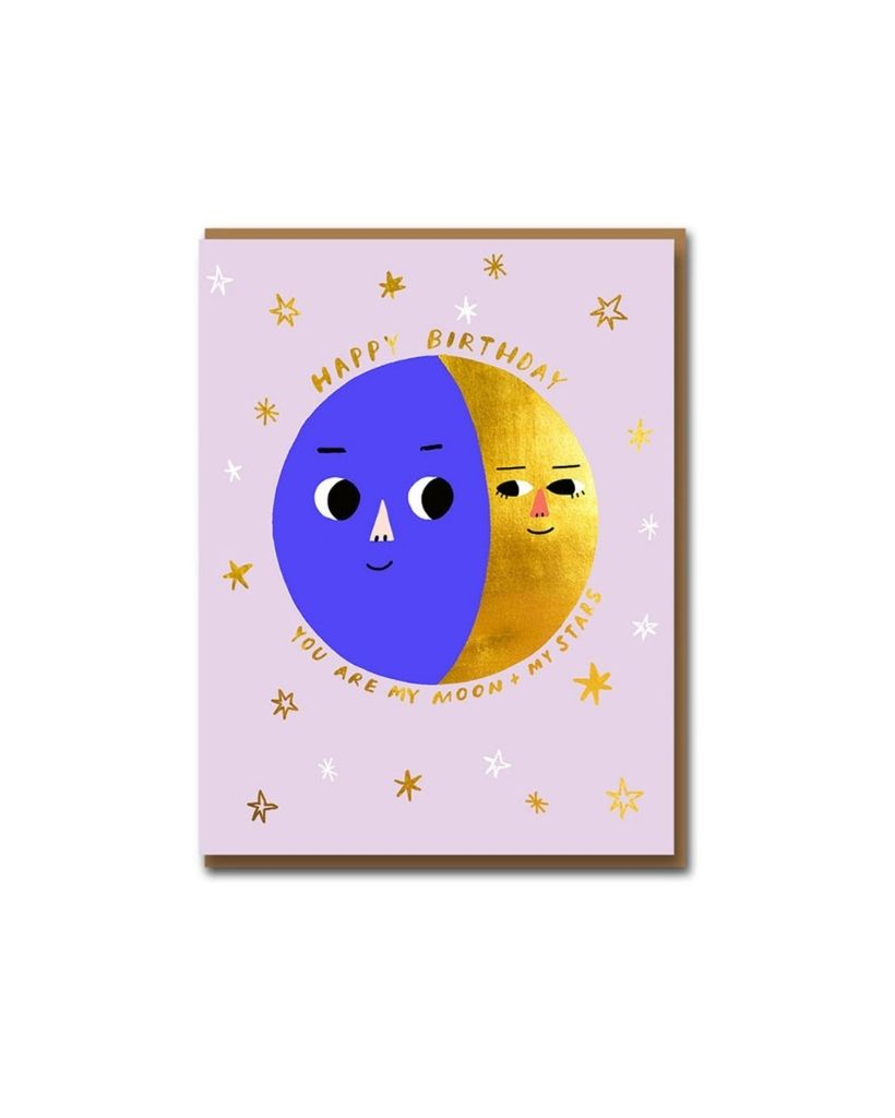 Moonphase Birthday Card