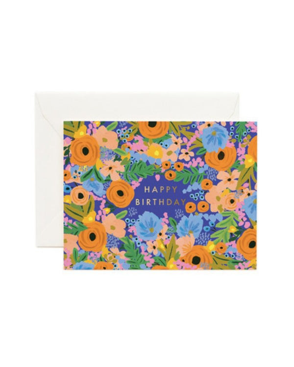Happy Birthday Floral Card