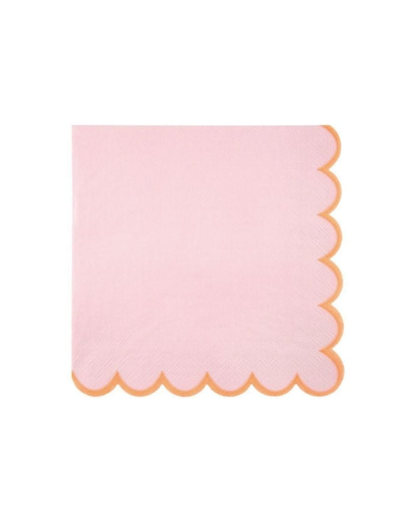Pink Neon Edge Large Napkins