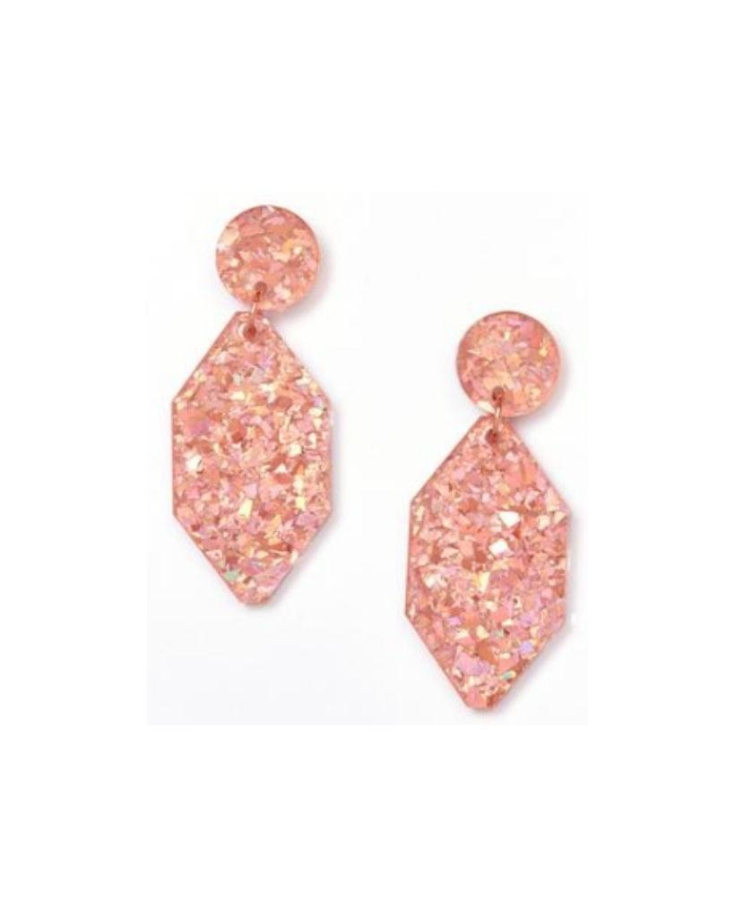 Diamond Pink Earrings