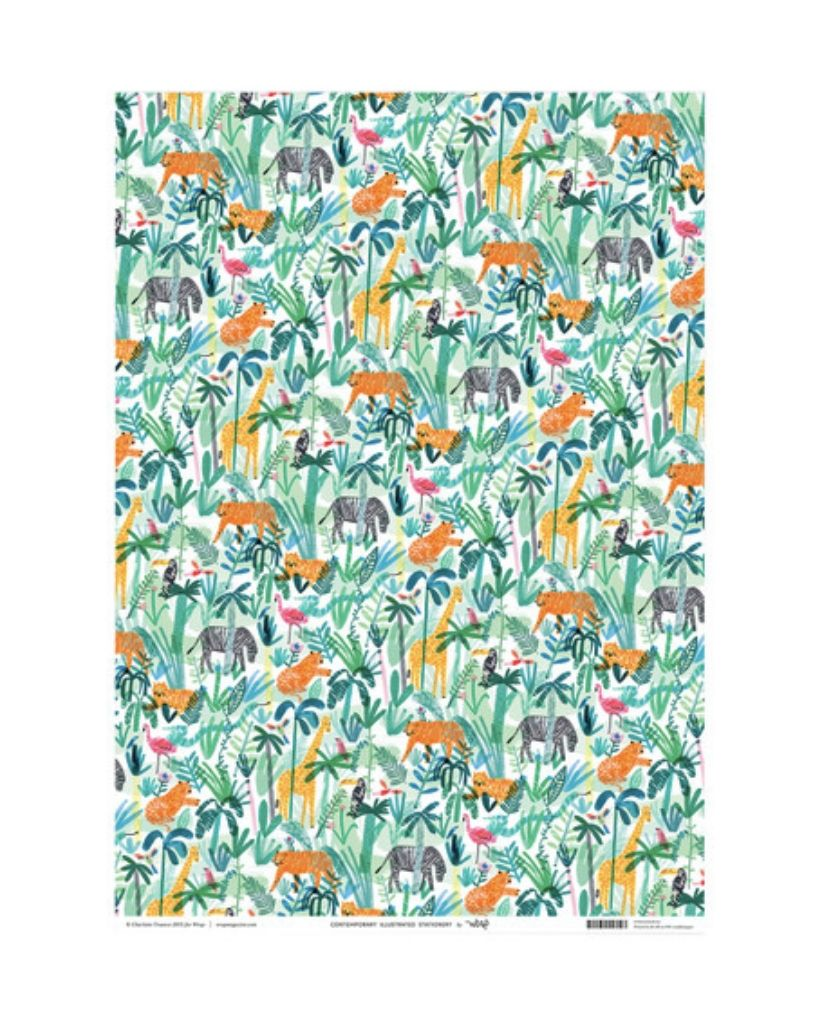Jungle Animals Wrapping Paper